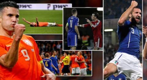 فوزان صعبان لهولندا وإيطاليا ونتيجة ساحقة لبلجيكا على أندورا