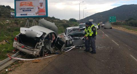 إصابات بحادث طرق مروع قرب دير حنا