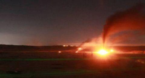 قصف إسرائيلي شمال بيت لاهيا بعد اعتراض صاروخ في عسقلان