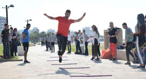 منافسة قوية لدوري المعسكرين في مدرسة أورط على أسم حلمي الشافعي عكا