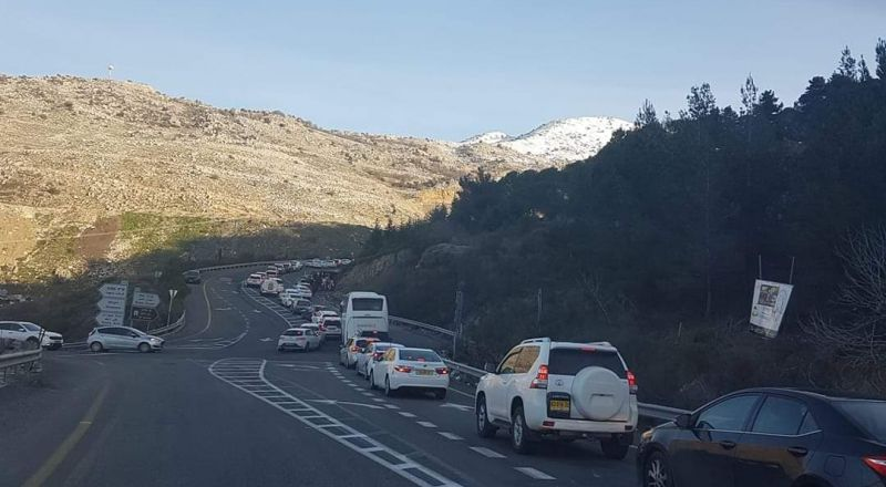 الشرطة: إغلاق الشارع المؤدي إلى جبل الشيخ بسبب كثرة الزوار