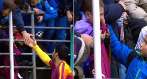 لفتة انسانية رائعة من سواريز قبل مباراة ايبار