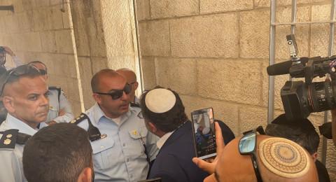 الشرطة تمنع بن غفير من اقتحام الاقصى