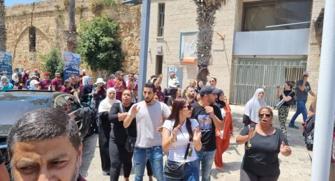عكا: مظاهرة بمشاركة العشرات للافراج عن المعتقلين