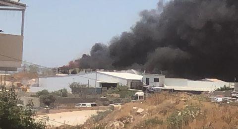 اندلاع حريق في مكب نفايات بين كفر كنا وهار يونا