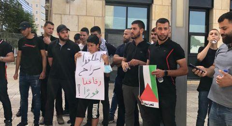 حيفا: تظاهرة أمام المحكمة لدعم الأسير المحرر ظافر جبارين