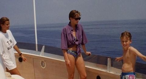الكشف عن صورة الأميرة ديانا على اليخت عام 1990