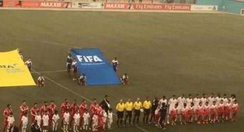 المنتخب الفلسطيني يفرض التعادل على نظيره الإماراتي على ستاد