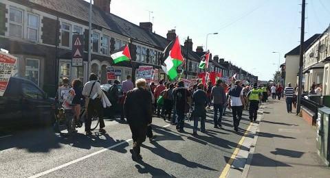بريطانيا: 2500 متظاهر ضد المباراة التي تجمع بين منتخب إسرائيل ومنتخب ويلز
