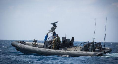 الجيش الاسرائيلي يقوم بمناورة بحرية شمال غزة