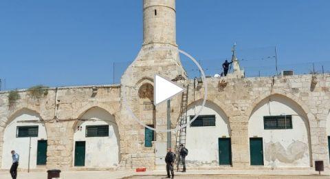 تركيب معدات فوق سطح المسجد الأقصى