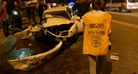 النقب: إصابة 3 أشخاص في حادث طرق بالقرب من اللقية