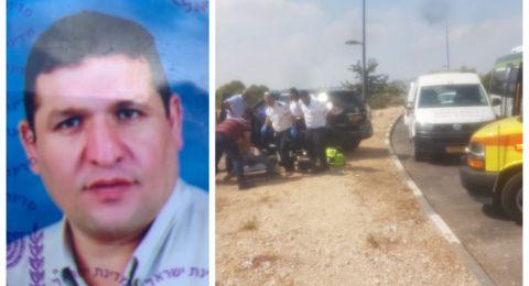 مصرع الطبيب أسامة بسام أبو أحمد من الناصرة بعد اصابته بسكتة قلبية اثناء قيادته سيارته