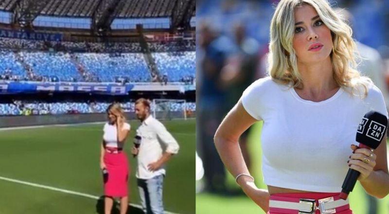مذيعة إيطالية تدافع عن جماهير نابولي رغم تعرضها لهتافات جنسية
