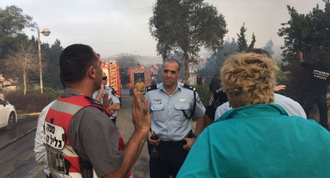 حريق ضخم قرب كفر سميع وإغلاق شارع 89
