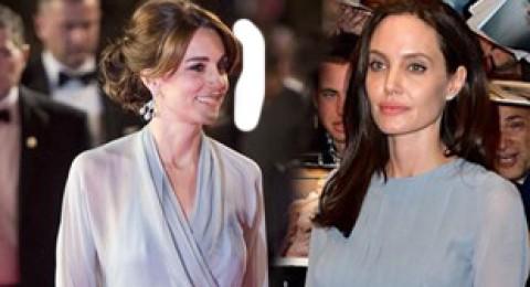 انجلينا وكيت بفستان متشابه... من تبدو اجمل؟