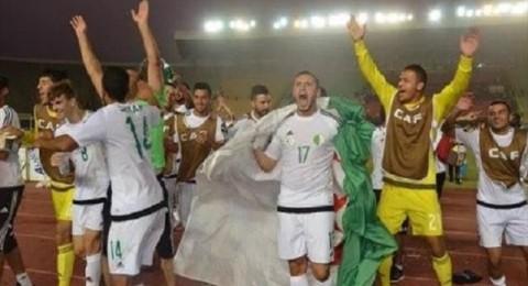 الجزائر تصعد إلى نهائي امم أفريقيا وتتأهل إلى دورة الالعاب الاولمبية