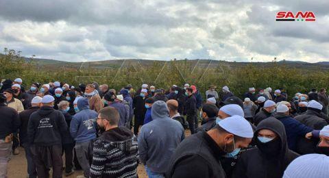 الجيش الإسرائيلي يغلق مداخل قرى الجولان المحتل ويمنع وصول الأهالي لأراضيهم الزراعية