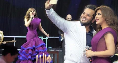 نجوى كرم تشعل حفل قطر الخيري برقص الدبكة اللبنانية