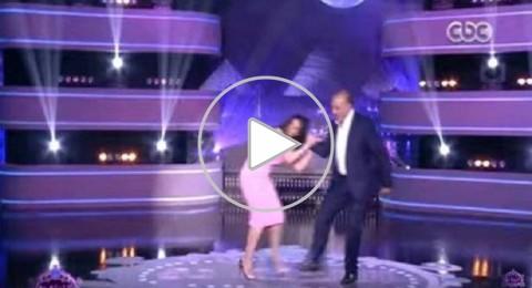 الممثل السوري جمال سليمان يضرب الممثلة حورية فرغلي بعنف على الهواء