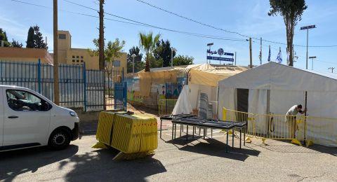 نتنياهو يفتتح محطة شرطة في حي الجواريش بالرملة .. في ساحة مدرسة!