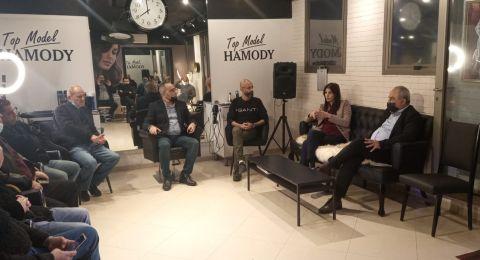محمد دراوشة خلال حلقة بيتية في حيفا: