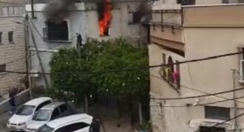 حريق في مجد الكروم .. الشرطة: مشتبه أراد احراق المخدرات، فأحرق منزله