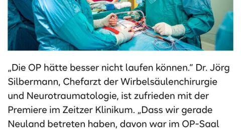 د.أحمد شلش رئيساً لقسم جراحات العمود الفقري في مستشفى ألماني