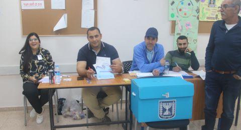نسبة التصويت في كفر قرع حتّى السابعة: 35%