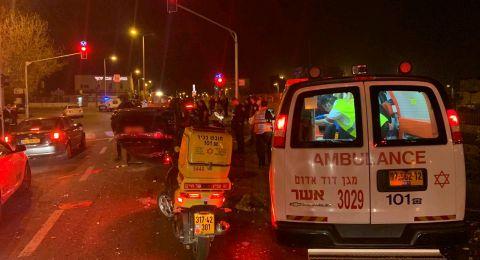 إصابة شابتين بحادث طرق مروع في حيفا