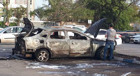 انفجار سيارة في موقف سيارات مستشفى هعيمك بالعفولة