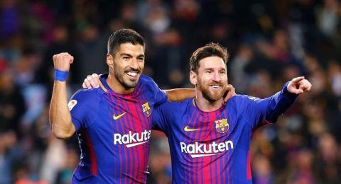 سواريز وميسي يحسمان القمة مع أتلتيكو ويقربان برشلونة من اللقب