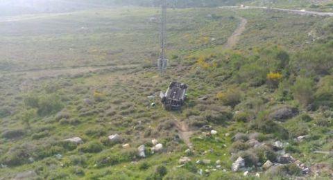 الجولان: إصابة خطيرة لشاب (39 عاما) جراء انقلاب سيارته