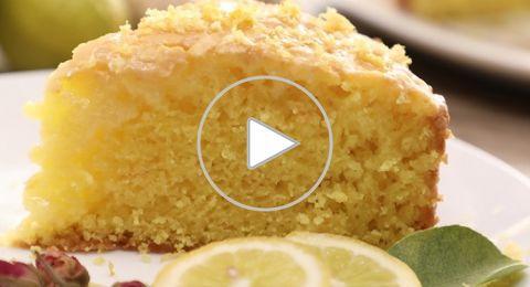 طريقة عمل كيكة الليمون السهلة والسريعة