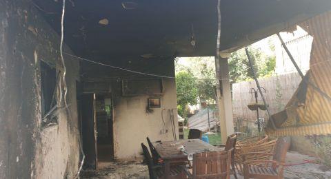 حريق في مبنى وعريشة في دالية الكرمل .. من دون إصابات