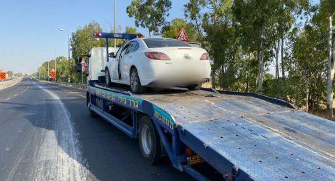 ضبط سائق من رهط  يقود تحت تأثير الكحول بنسبة 5 اضعاف من المسموح (1189 ملغ)