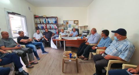 النائب جابر عساقلة يلتقي مواطني باقة الغربية المتضررين من مشروع سكة القطار