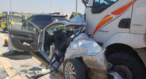مصرع مواطنة إثر حادث سير جنوب الخليل