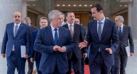 الأسد ومبعوث بوتين يبحثان خطوات دفع العملية السياسية السورية ومنع محاولات عرقلتها