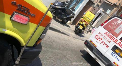 يافا: إصابة خطيرة لعامل اثر سقوطه عن سلّم