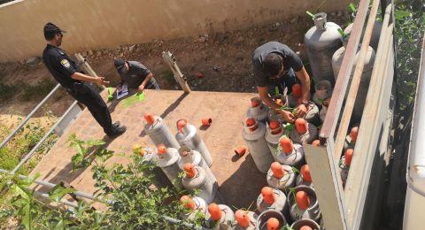 ام الفحم: مصادرة 48 اسطوانة غاز واحالة مشتبه للتحقيق