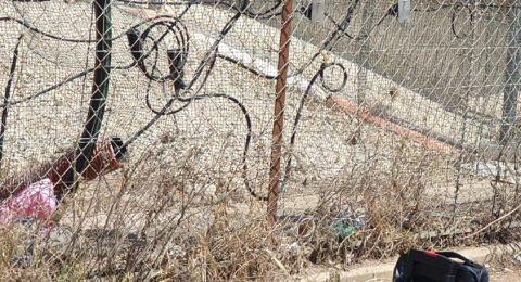إلقاء زجاجات حارقة على المحكمة العسكرية منطقة السامرة