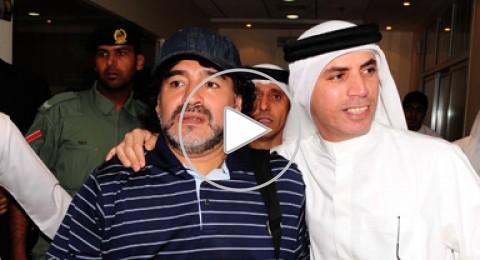 شاهد:مارادونا يشارك في تدريبات الوصل الاماراتي