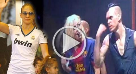 غاغا تساند برشلونة ولوبيز وتوأمها، ريال