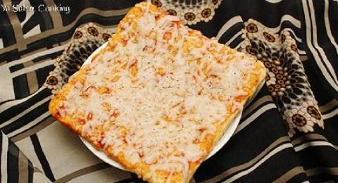 عجينة البيتزا بدون خميرة