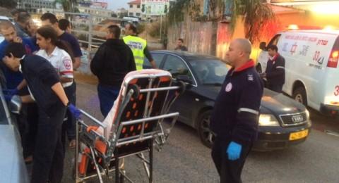 اصابة شخصين بجراح متوسطة اثر حادث طرق عند مدخل كفرقرع