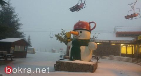 إغلاق موقع التزلج على جبل الشيخ بسبب رداءة الأحوال الجوية
