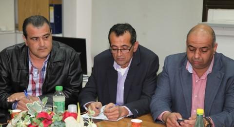 ممثلي القائمة المشتركة يلتقون باعضاء المجلس البلدي كفرقرع