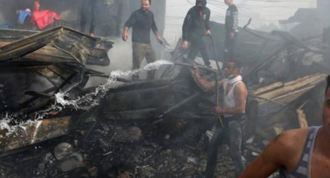 ارتفاع عدد شهداء حريق النصيرات لـ14