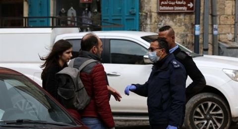 الأمن الفلسطيني يغلق بيت لحم بسبب كورونا